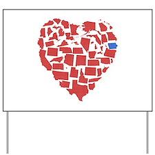 Iowa Heart Yard Sign