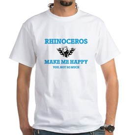 Rhinoceros Make Me Happy T-Shirt