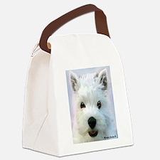 westie Canvas Lunch Bag