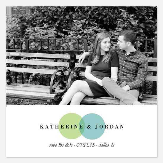 Mod Dots Wedding Save The Date Invitations