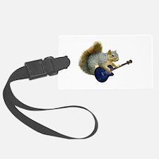 Squirrel Blue Guitar Luggage Tag