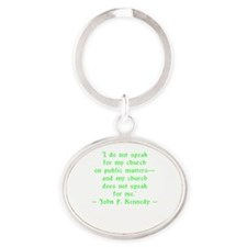 JFK Church Speak Oval Keychain