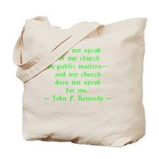 JFK Church Speak Tote Bag