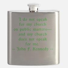 JFK Church Speak Flask