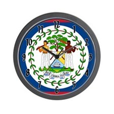 Flag of Belize Wall Clock