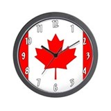 Canada flag Wall Clocks