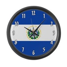 Flag of El Salvador Large Wall Clock