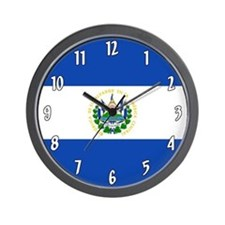 Flag of El Salvador Wall Clock