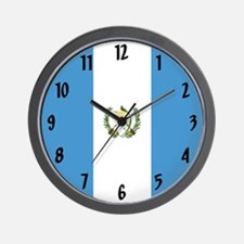 Flag of Guatemala Wall Clock