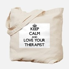 Keep Calm and Love your Therapist Tote Bag