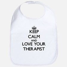 Keep Calm and Love your Therapist Bib