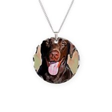 chocolate lab Necklace