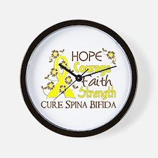 Spina Bifida HopeCourage3 Wall Clock