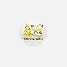 Spina Bifida HopeCourage3 Mini Button (100 pack)