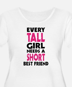 (TALL GIRL - SHORT GIRL) BFF Plus Size T-Shirt