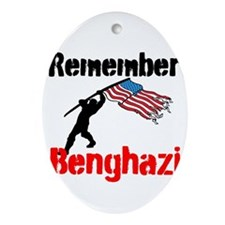 Remember Benghazi Ornament (Oval)