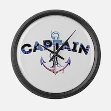 Boat Captain Large Wall Clock