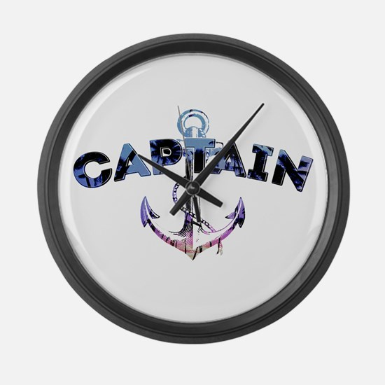 Boat Captain Large Wall Clock
