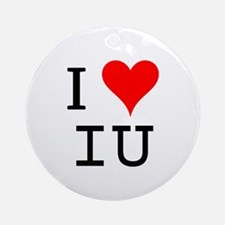 I Love IU Ornament (Round)