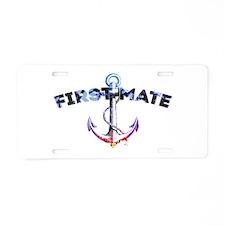 First Mate Aluminum License Plate