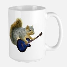 Squirrel Blue Guitar Mugs