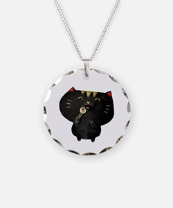 Black Sushi Cat Necklace