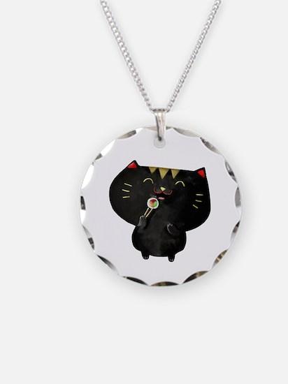 Black Sushi Cat Necklace