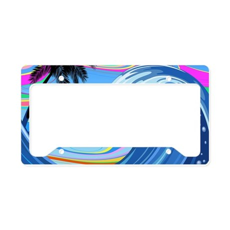 Ocean Wave License Plate Holder By Fuzzychair
