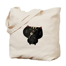 Black Sushi Cat Tote Bag