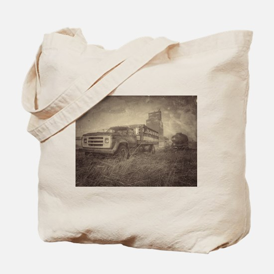 Farm Truck And Grain Elevator Tote Bag