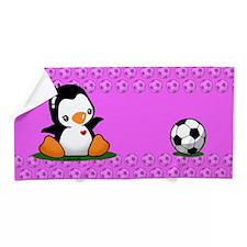 Soccer Penguin Beach Towel