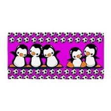 Soccer Penguins Beach Towel