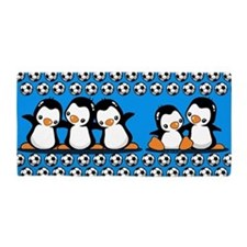 Soccer Penguins Beach Towel