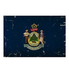 Maine State Flag VINTAGE Postcards (Package of 8)