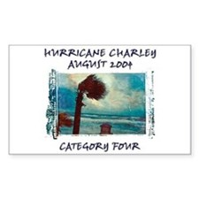 Hurricane Charley 2004 Sticker (Rect.)