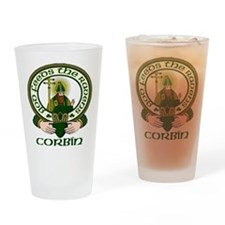 Corbin Clan Motto Drinking Glass