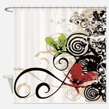 Curly Design Shower Curtain
