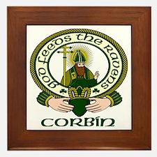 Corbin Clan Motto Framed Tile
