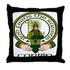 Corbin Clan Motto Throw Pillow
