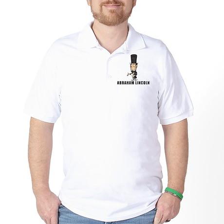 Abe Lincoln goofy Golf Shirt