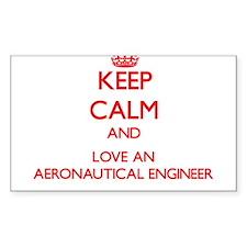 Keep Calm and Love an Aeronautical Engineer Sticke