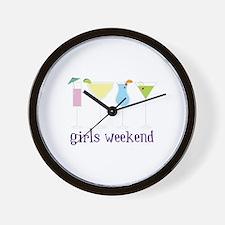 girls weekend Wall Clock