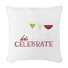lets CELEBRATE Woven Throw Pillow