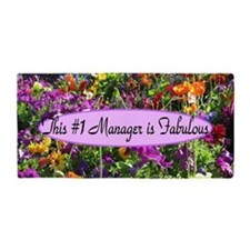 Floral Manager Beach Towel
