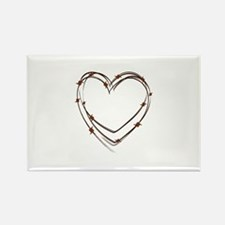 Barbed Wire Heart Magnets