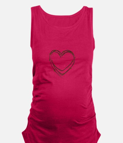 Barbed Wire Heart Maternity Tank Top