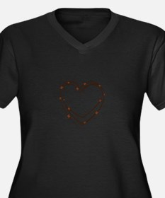 Barbed Wire Heart Plus Size T-Shirt