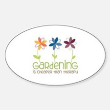 gardening is cheaper than therapy Decal