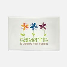 gardening is cheaper than therapy Magnets