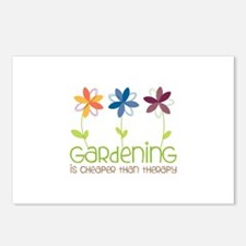 gardening is cheaper than therapy Postcards (Packa